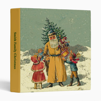 old world father christmas binder