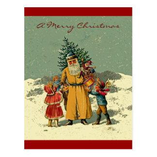 old world father christmas postcards