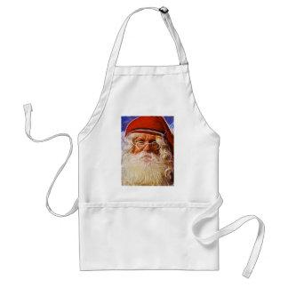 Old World Father Christmas Santa Claus Portrait Apron