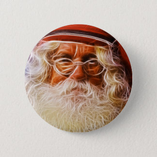 Old World Father Christmas Santa Claus Portrait Pinback Button