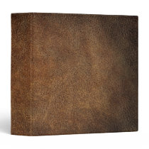 Old World Faux Leather 3 Ring Binder