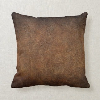 Old World Faux Leather Pillow