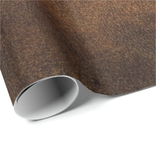 58ae6bd6f8f5 Old World Faux Leather Wrapping Paper