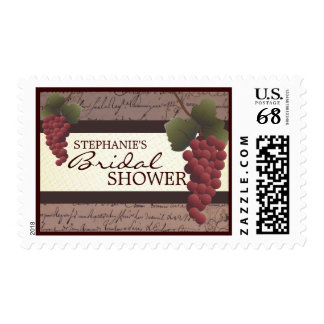 Old World Grapevine Wine Bridal Shower Postage