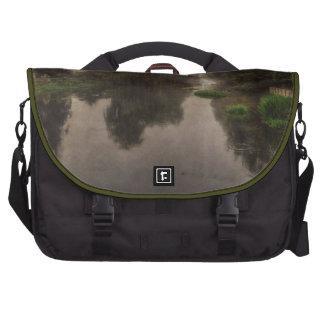 Old World Landscape Fine Art Painting Laptop Messenger Bag