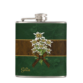 Old World Look Edelweiss Custom Flask