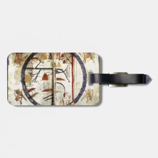 Old world map 12th century tag for luggage