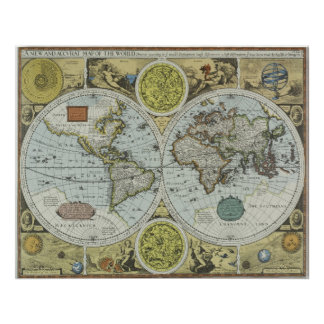 Old World Map 1626 - Antique Travel Poster