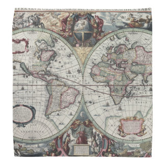 Old World Map 1630 Bandana