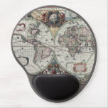 Old World Map 1630 Gel Mouse Mats