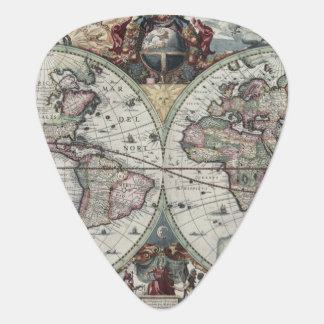 Old World Map 1630 Guitar Pick