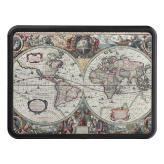 Old World Map 1630 Hitch Covers