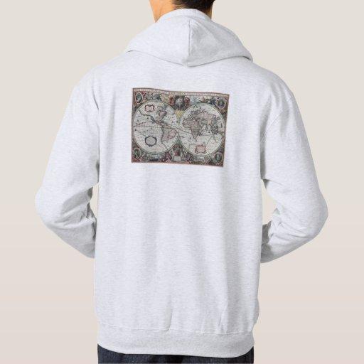 Old World Map 1630 Hooded Sweatshirts