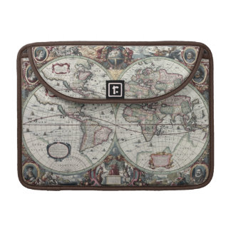 Old World Map 1630 Sleeve For MacBook Pro