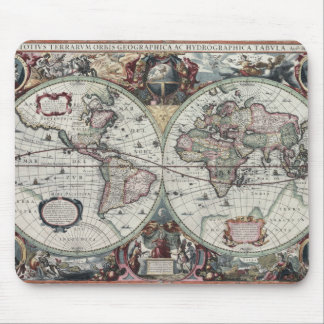 Old World Map 1630 Mouse Pad