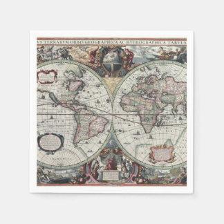 Old World Map 1630 Napkin
