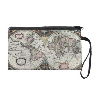Old World Map 1630 Wristlet