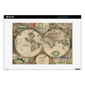 Old World map 1689 Decal For Laptop