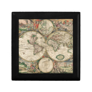 World map gift boxes keepsake boxes zazzle old world map 1689 gift box gumiabroncs Image collections