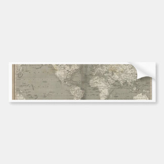 Old world map 1820 bumper sticker
