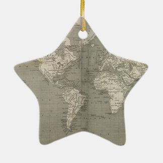 Old world map 1820 ceramic ornament