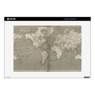 Old world map 1820 laptop skin