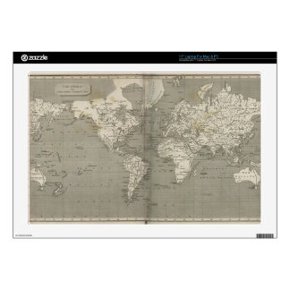 "Old world map 1820 skin for 17"" laptop"