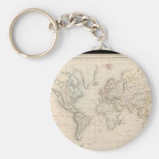 Old World Map 2 Keychain