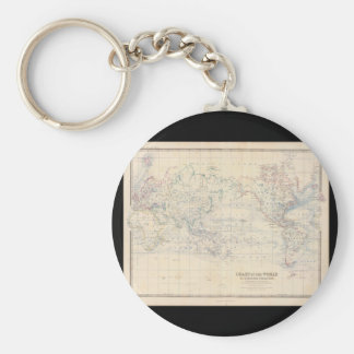 Old World Map 2_Maps of Antiquity Keychain