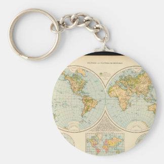 Old World Map 32 Keychain