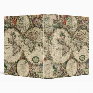 Old world map 3 ring binder