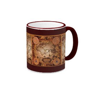 Old World Map Art - 1481 Ringer Mug
