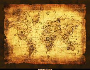 Old world map canvas art prints zazzle old world map art print gumiabroncs Image collections