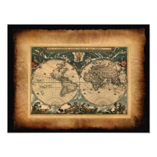 Old World Map Art Print Photo Print