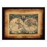 Old World Map Art Print Photographic Print