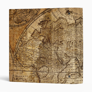 OLD WORLD MAP AVERY BINDERS