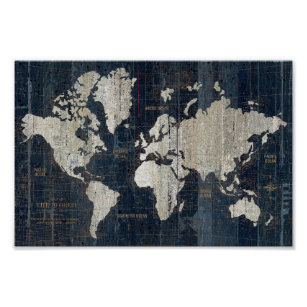 See the world quote posters zazzle old world map blue poster gumiabroncs Gallery