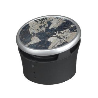 Old World Map Blue Speaker