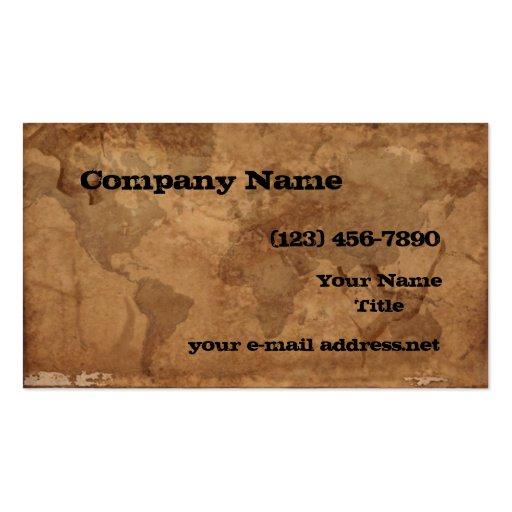Old World Map Business Card Template