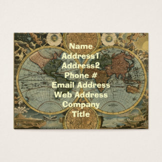 Old World Map Business Cards