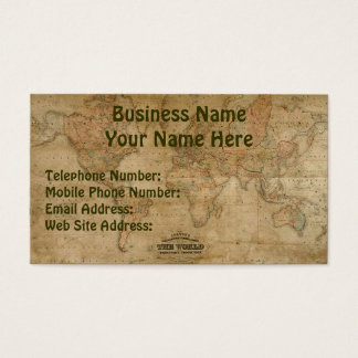 OLD WORLD MAP Business & Profile Cards