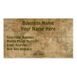 OLD WORLD MAP Business & Profile Cards Business Card Template