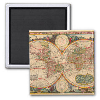 Old World Map by Nicolaas Visscher Magnet
