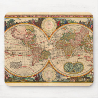 Old World Map by Nicolaas Visscher Mouse Pad