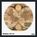 """Old World Map by Nicolaas Visscher Wall Sticker<br><div class=""""desc"""">Orbis Terrarum,  Visscher,  Nicolaas J. 1670</div>"""
