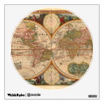 Old World Map by Nicolaas Visscher Wall Stickers