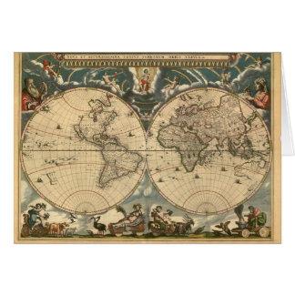 Old World Map - Card