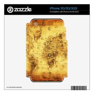 Old World Map Classc Gift Design iPhone 3G Skin