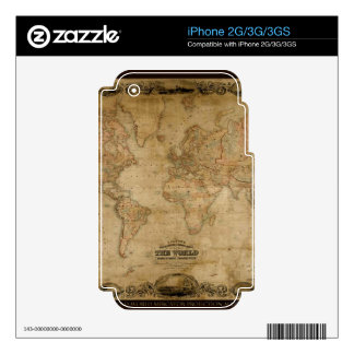 Old World Map Classc Gift Design Decal For The iPhone 2G