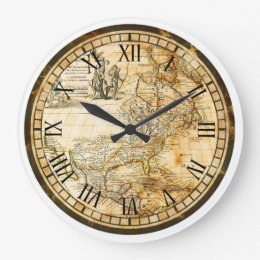 Buy World Map Clock. Old World Map Clock  Wall Clocks Zazzle